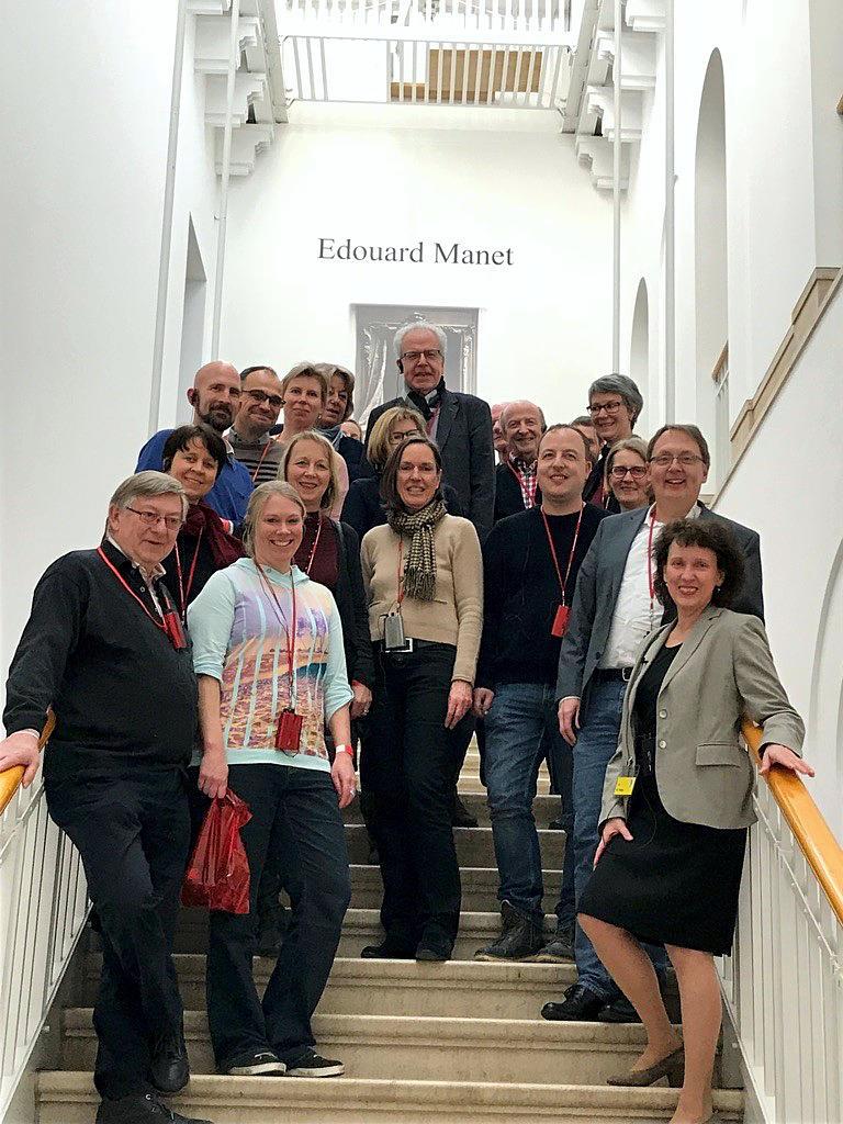 Kollegium in der Manet-Ausstellung in Wuppertal
