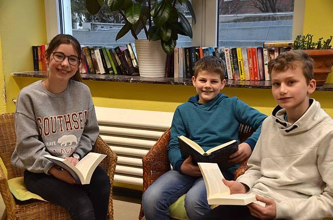 Vorlesewettbewerb-Sieger beim Stadtentscheid Till Motzkau (Klasse 6b)
