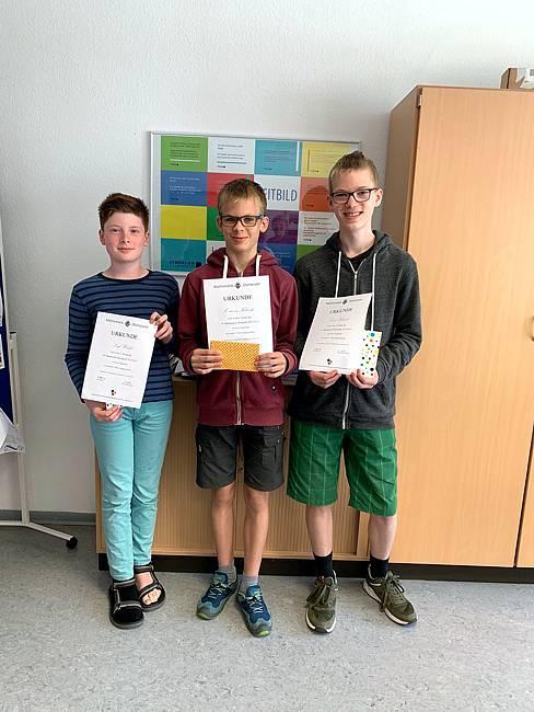 Erfolgreiche Teilnahme an der diesjährigen Mathematik-Olympiade