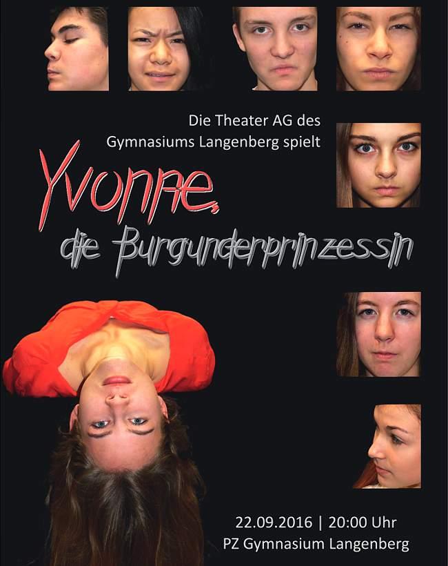 Flyer zu Yvonne, die Burgunderprinzessin